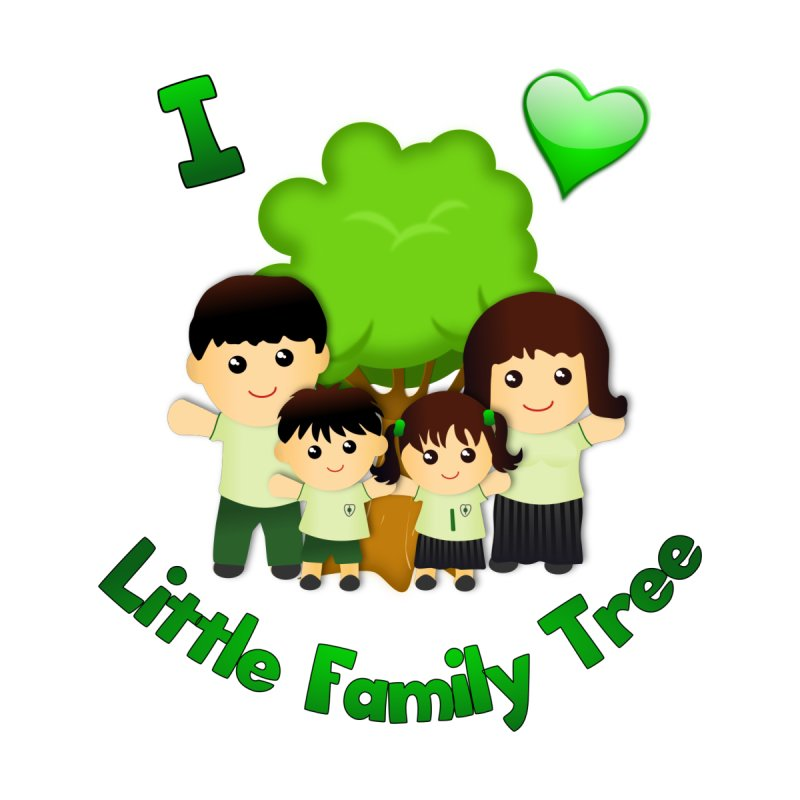 I heart Little Family Tree by Yellow Fork Tech's Shop