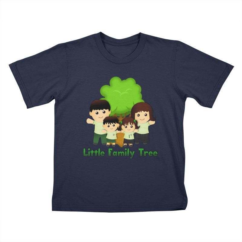 Little Family Tree Logo Kids T-Shirt by Yellow Fork Tech's Shop