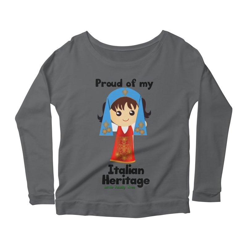 Italian Heritage Girl Women's Longsleeve Scoopneck  by Yellow Fork Tech's Shop