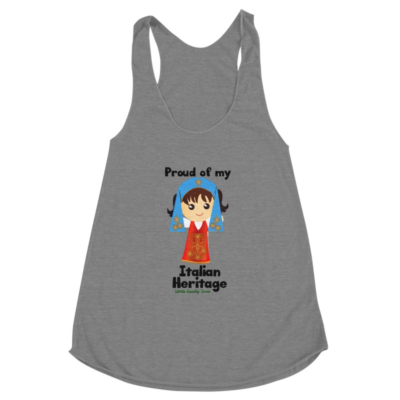 Italian Heritage Girl Women's Racerback Triblend Tank by Yellow Fork Tech's Shop