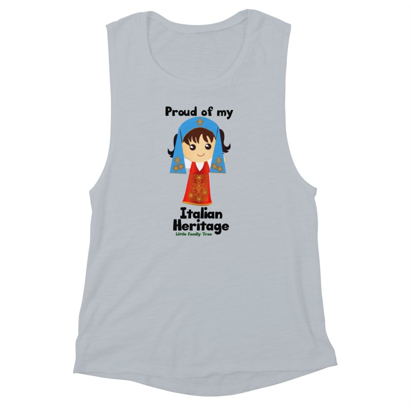 Italian Heritage Girl Women's Muscle Tank by Yellow Fork Tech's Shop