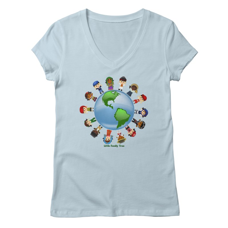 Global Ancestors Women's V-Neck by Yellow Fork Tech's Shop