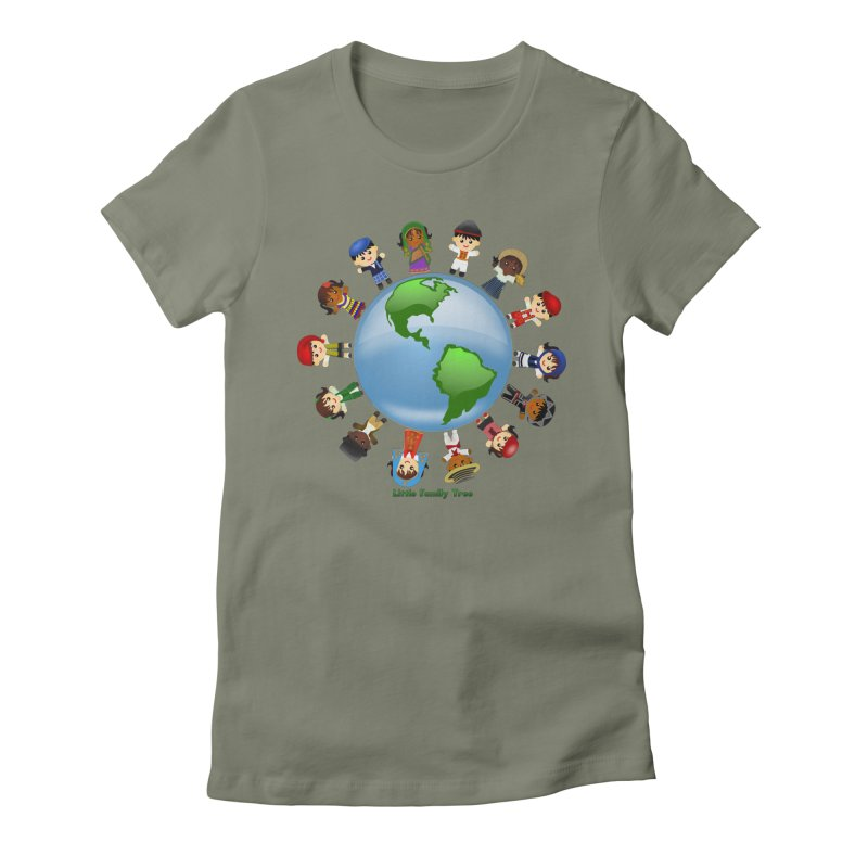 Global Ancestors Women's Fitted T-Shirt by Yellow Fork Tech's Shop