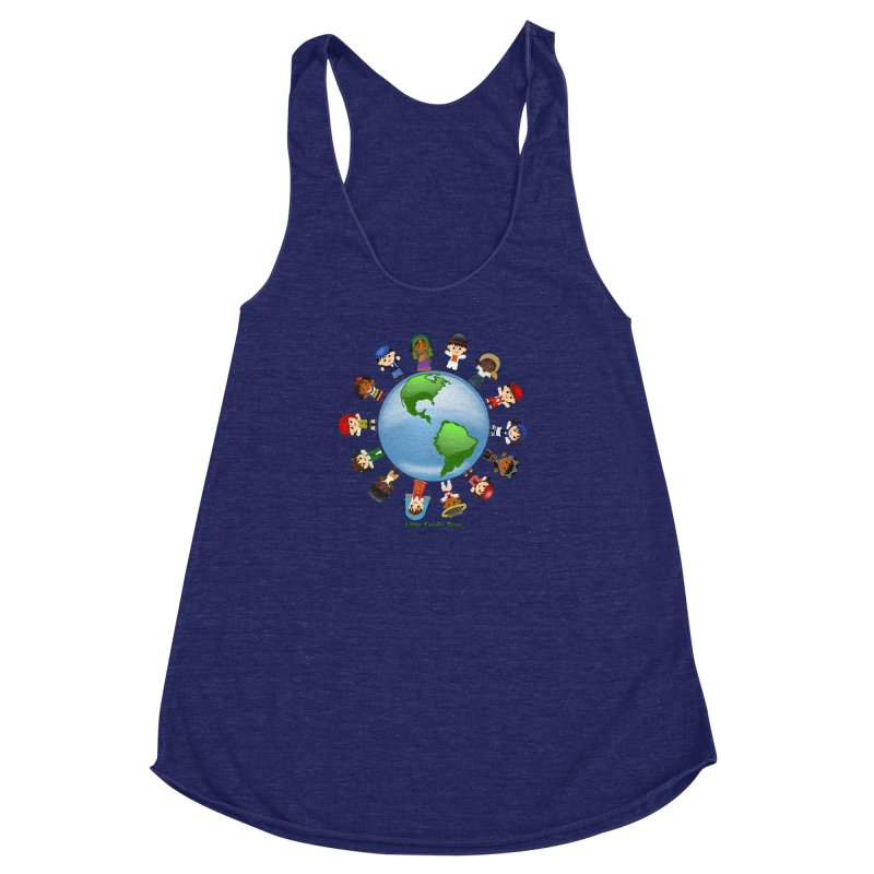 Global Ancestors Women's Racerback Triblend Tank by Yellow Fork Tech's Shop