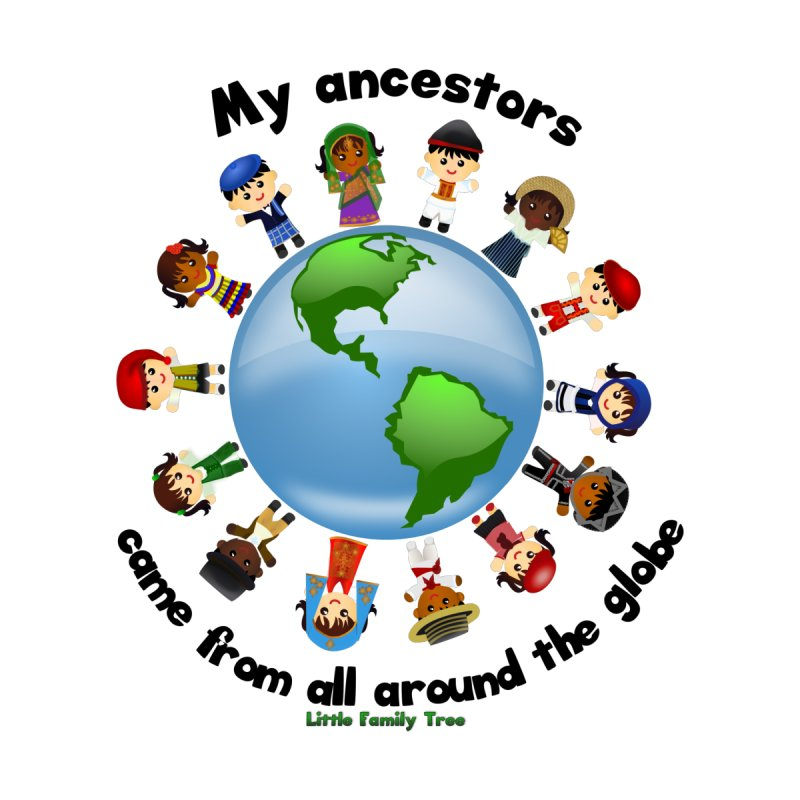 Global Ancestors with words by Yellow Fork Tech's Shop