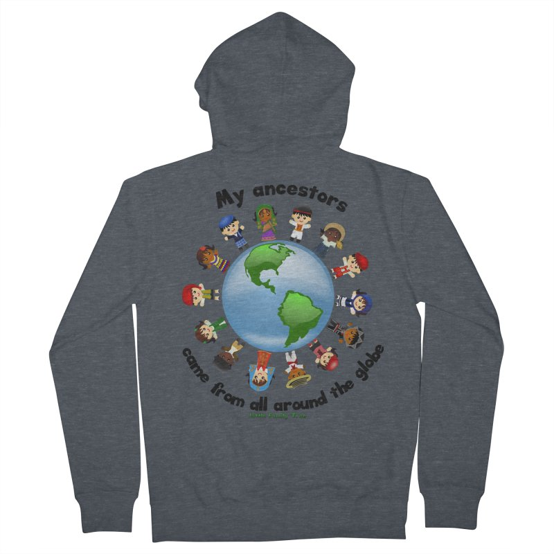 Global Ancestors with words Women's Zip-Up Hoody by Yellow Fork Tech's Shop