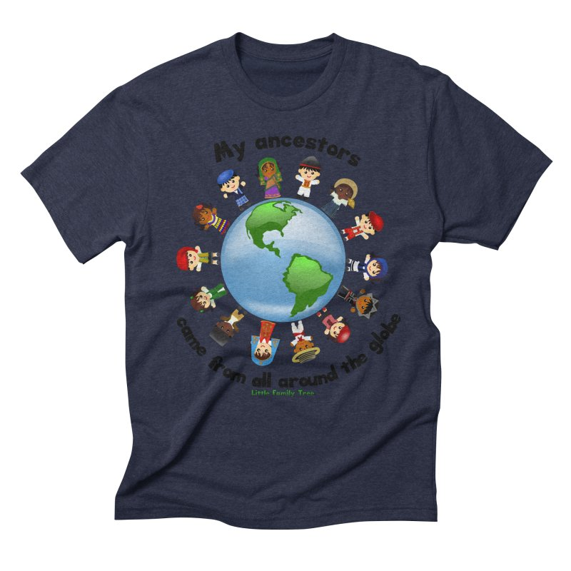 Global Ancestors with words Men's Triblend T-Shirt by Yellow Fork Tech's Shop