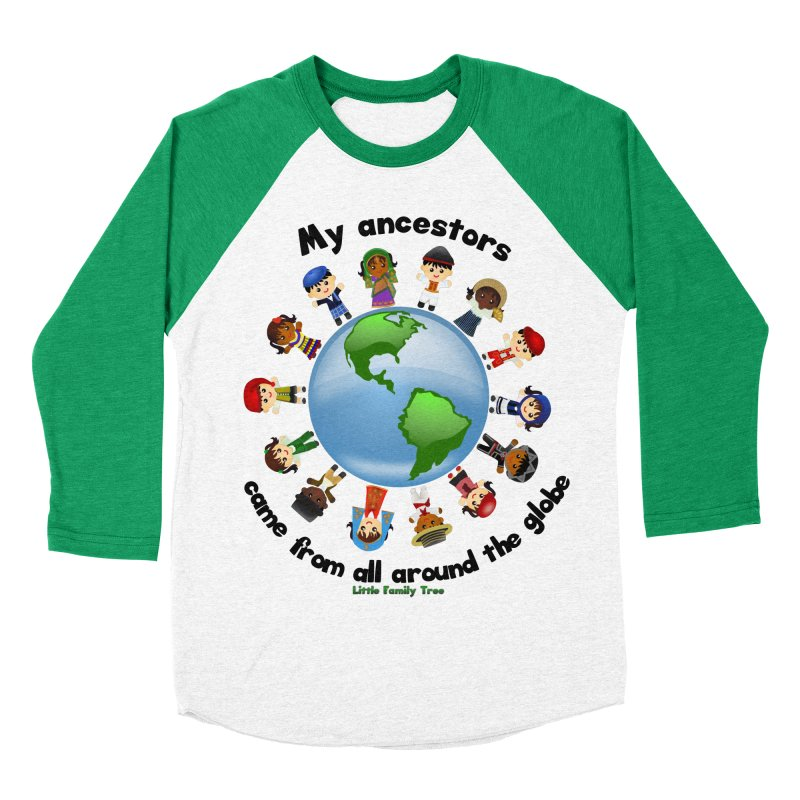 Global Ancestors with words Men's Baseball Triblend T-Shirt by Yellow Fork Tech's Shop