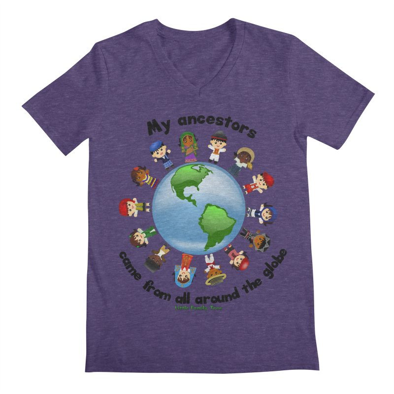 Global Ancestors with words Men's V-Neck by Yellow Fork Tech's Shop