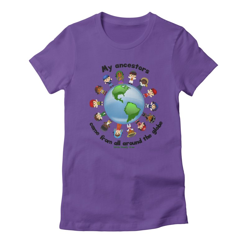 Global Ancestors with words Women's Fitted T-Shirt by Yellow Fork Tech's Shop