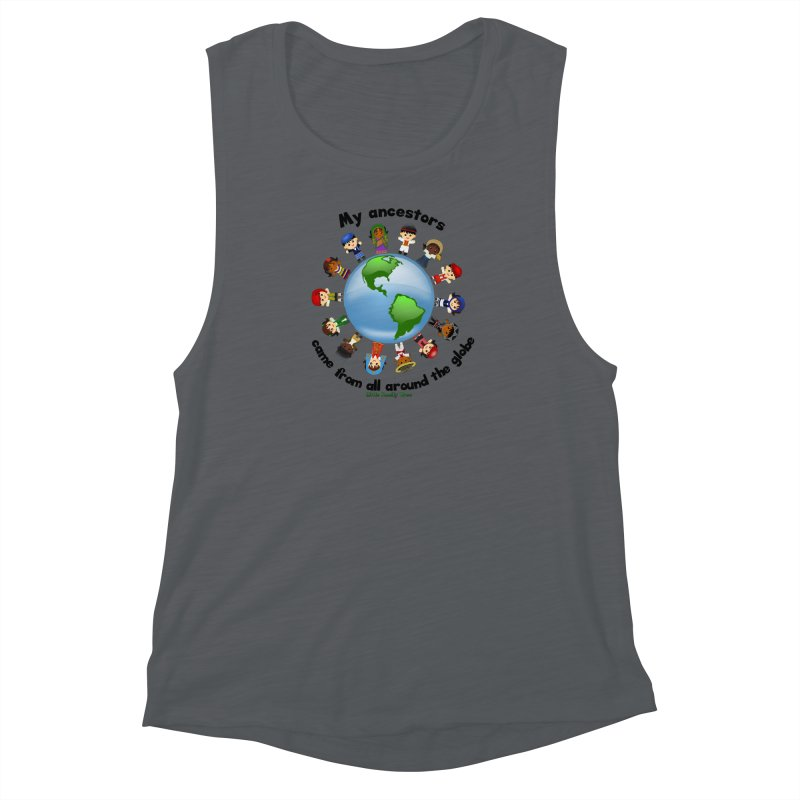 Global Ancestors with words Women's Muscle Tank by Yellow Fork Tech's Shop