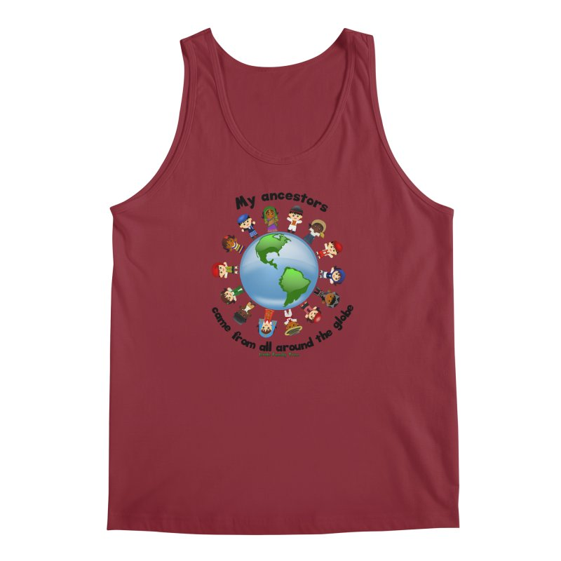 Global Ancestors with words Men's Tank by Yellow Fork Tech's Shop