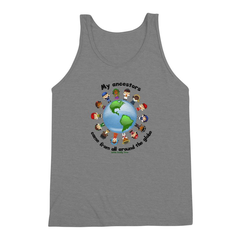 Global Ancestors with words Men's Triblend Tank by Yellow Fork Tech's Shop