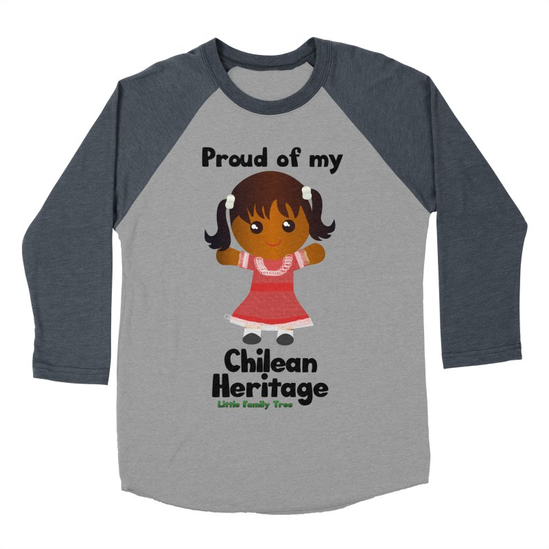 Chilean Heritage Girl Women's Baseball Triblend T-Shirt by Yellow Fork Tech's Shop