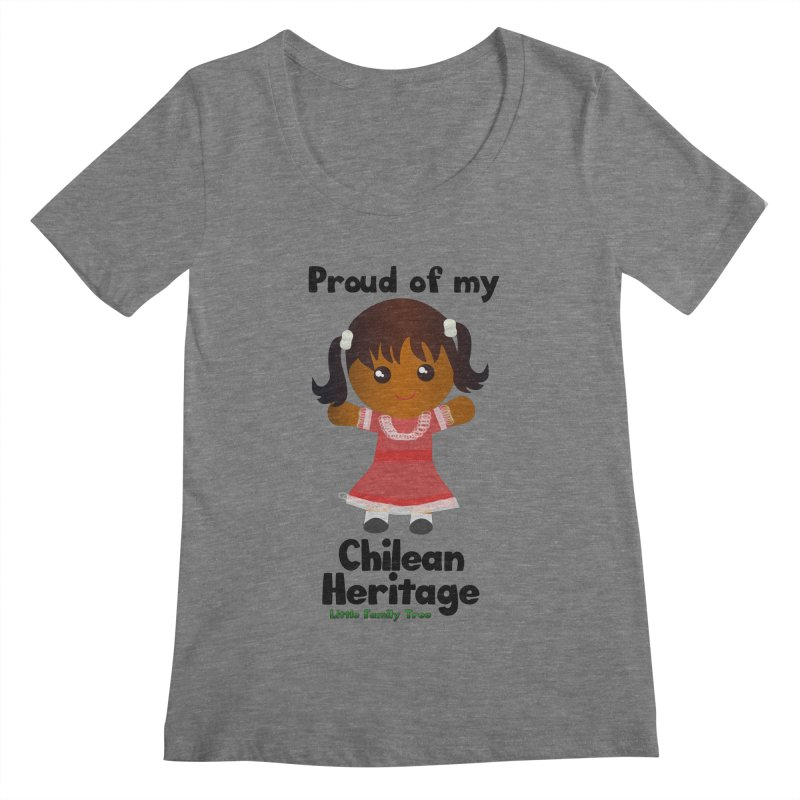 Chilean Heritage Girl Women's Scoopneck by Yellow Fork Tech's Shop