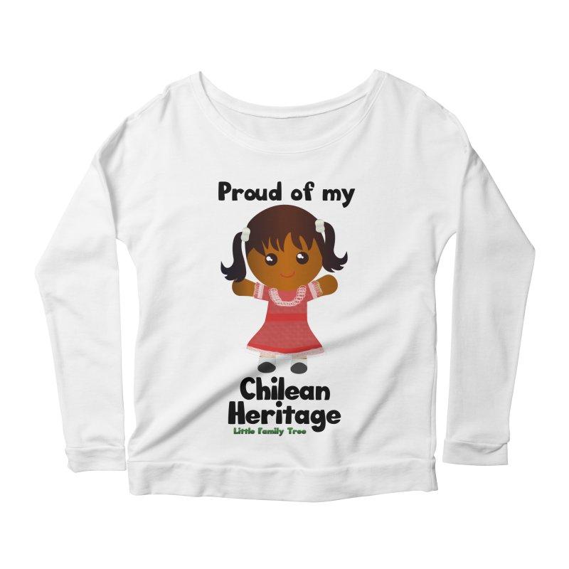 Chilean Heritage Girl Women's Longsleeve Scoopneck  by Yellow Fork Tech's Shop