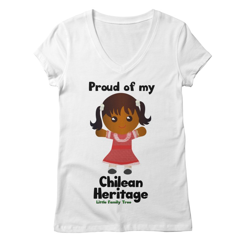 Chilean Heritage Girl Women's V-Neck by Yellow Fork Tech's Shop