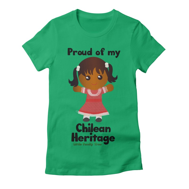 Chilean Heritage Girl Women's Fitted T-Shirt by Yellow Fork Tech's Shop