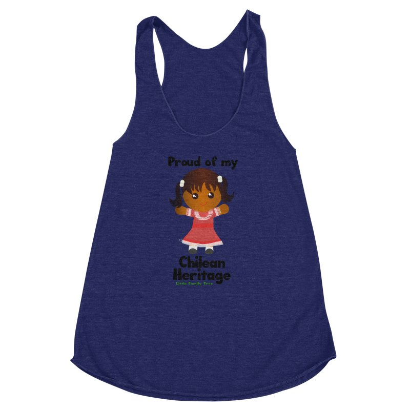 Chilean Heritage Girl Women's Racerback Triblend Tank by Yellow Fork Tech's Shop