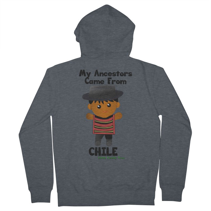Chile Ancestors Boy Men's Zip-Up Hoody by Yellow Fork Tech's Shop