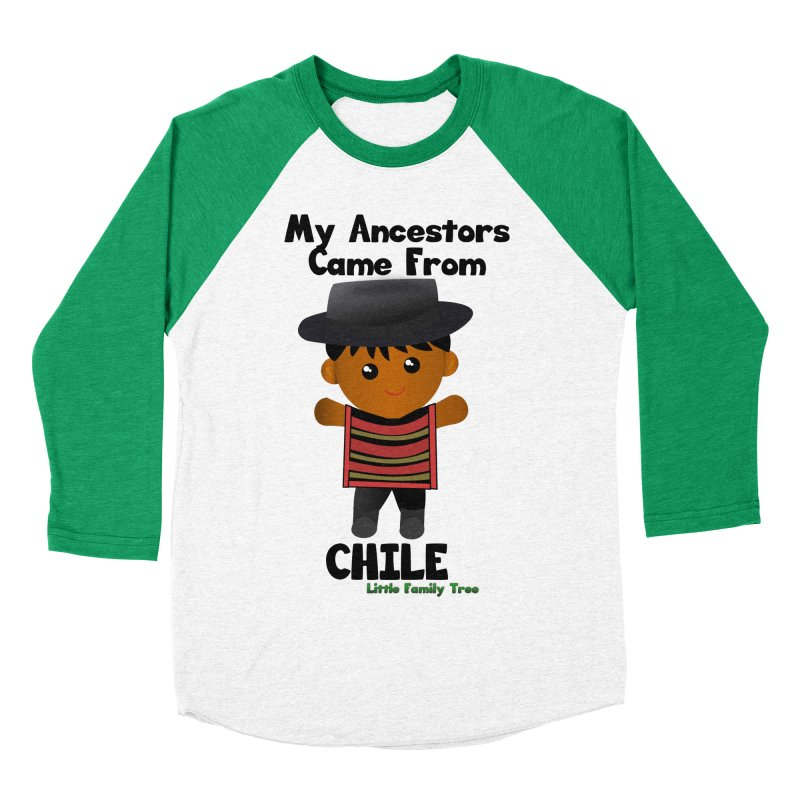Chile Ancestors Boy Men's Baseball Triblend T-Shirt by Yellow Fork Tech's Shop