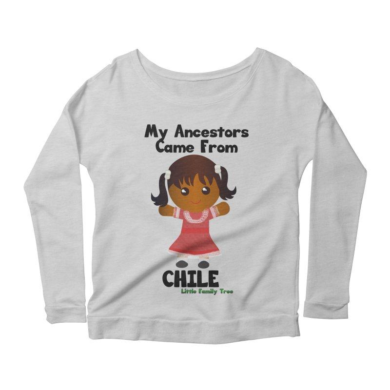 Chile Ancestors Girl Women's Longsleeve Scoopneck  by Yellow Fork Tech's Shop