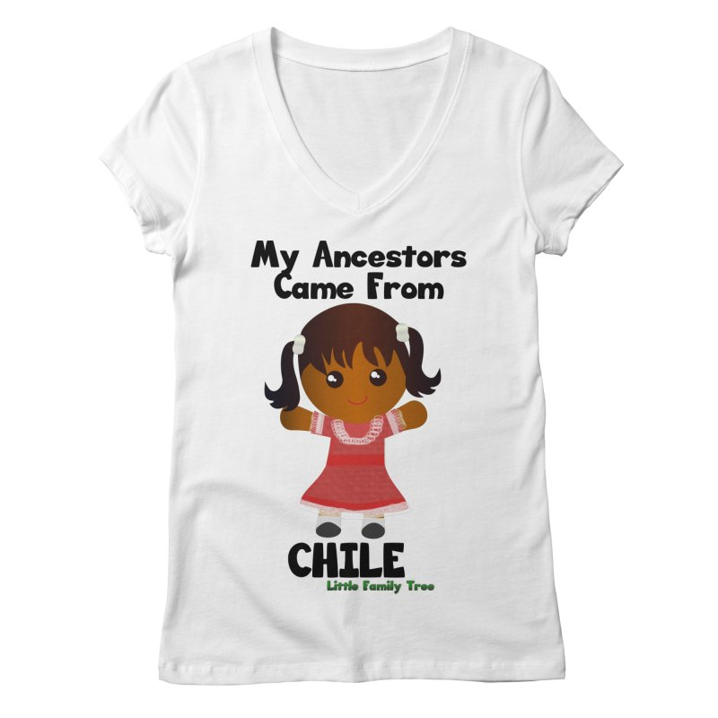 Chile Ancestors Girl Women's V-Neck by Yellow Fork Tech's Shop