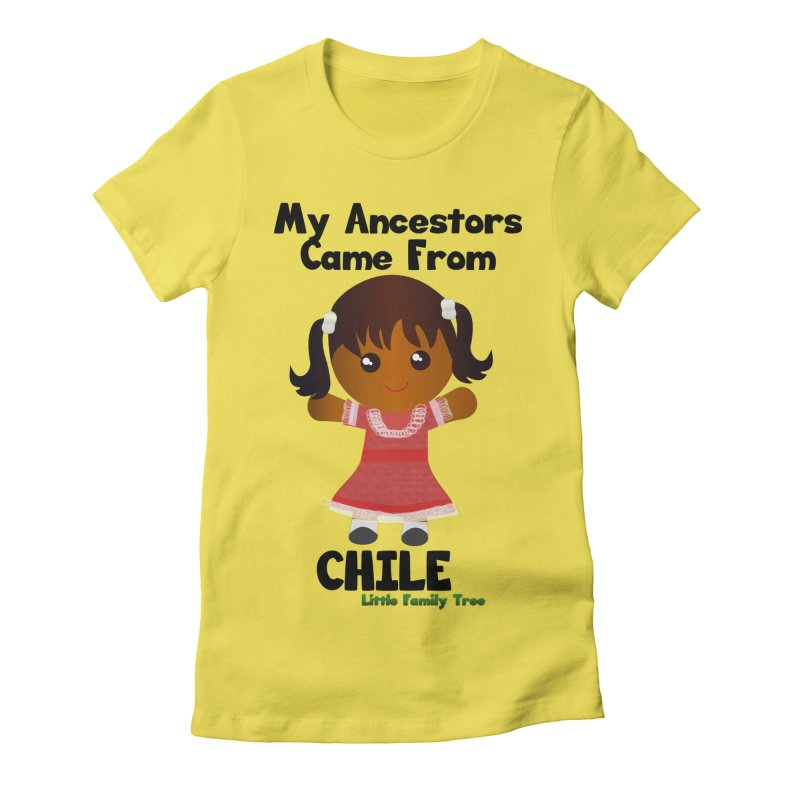 Chile Ancestors Girl Women's Fitted T-Shirt by Yellow Fork Tech's Shop