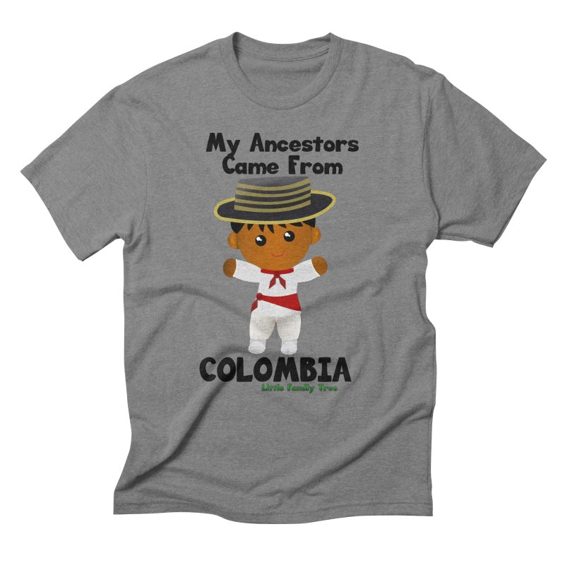 Colombia Ancestors Boy Men's Triblend T-Shirt by Yellow Fork Tech's Shop