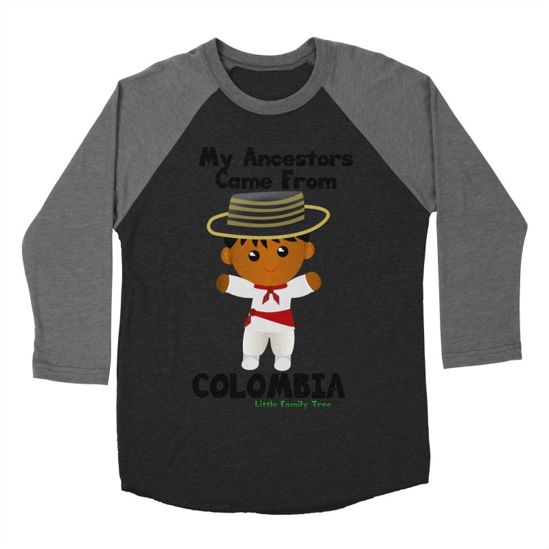 Colombia Ancestors Boy Men's Baseball Triblend T-Shirt by Yellow Fork Tech's Shop