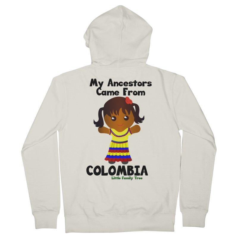 Colombia Ancestors Girl Women's Zip-Up Hoody by Yellow Fork Tech's Shop