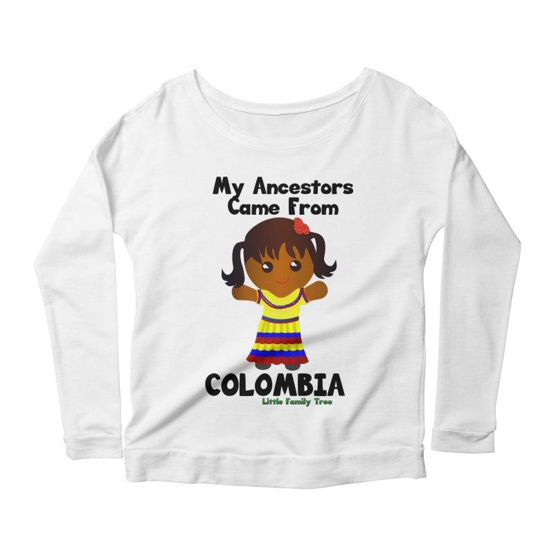 Colombia Ancestors Girl Women's Longsleeve Scoopneck  by Yellow Fork Tech's Shop