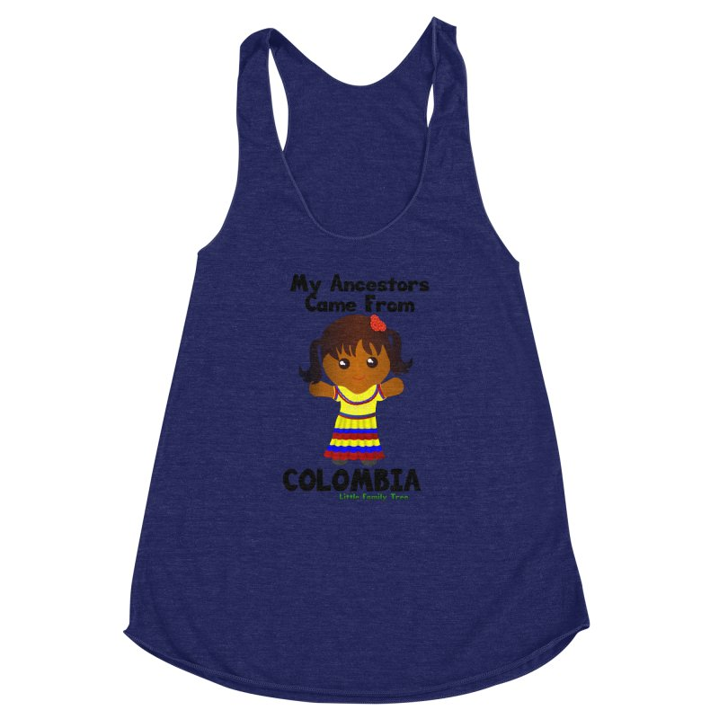 Colombia Ancestors Girl Women's Racerback Triblend Tank by Yellow Fork Tech's Shop