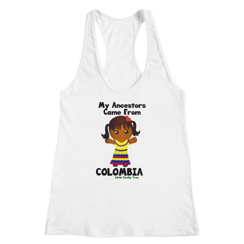 Colombia Ancestors Girl Women's Racerback Tank by Yellow Fork Tech's Shop