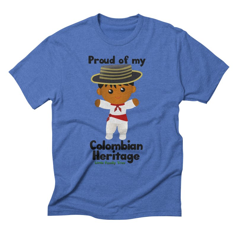 Colombian Heritage Boy Men's Triblend T-Shirt by Yellow Fork Tech's Shop
