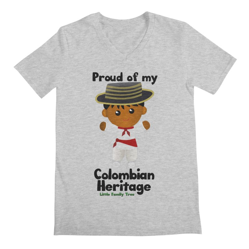Colombian Heritage Boy Men's V-Neck by Yellow Fork Tech's Shop