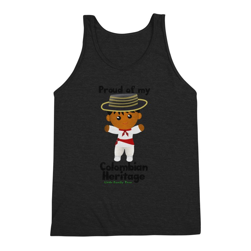 Colombian Heritage Boy Men's Triblend Tank by Yellow Fork Tech's Shop
