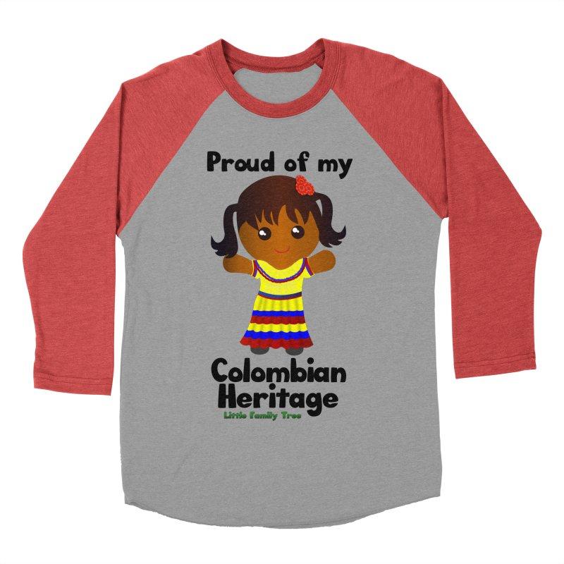 Colombian Heritage Girl Women's Baseball Triblend T-Shirt by Yellow Fork Tech's Shop