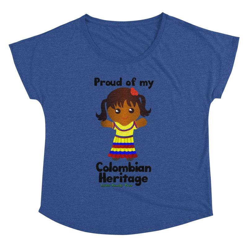 Colombian Heritage Girl Women's Dolman by Yellow Fork Tech's Shop