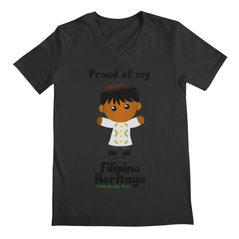 Filipino Heritage Boy Men's V-Neck by Yellow Fork Tech's Shop
