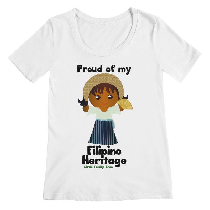Filipino Heritage Girl Women's Scoopneck by Yellow Fork Tech's Shop