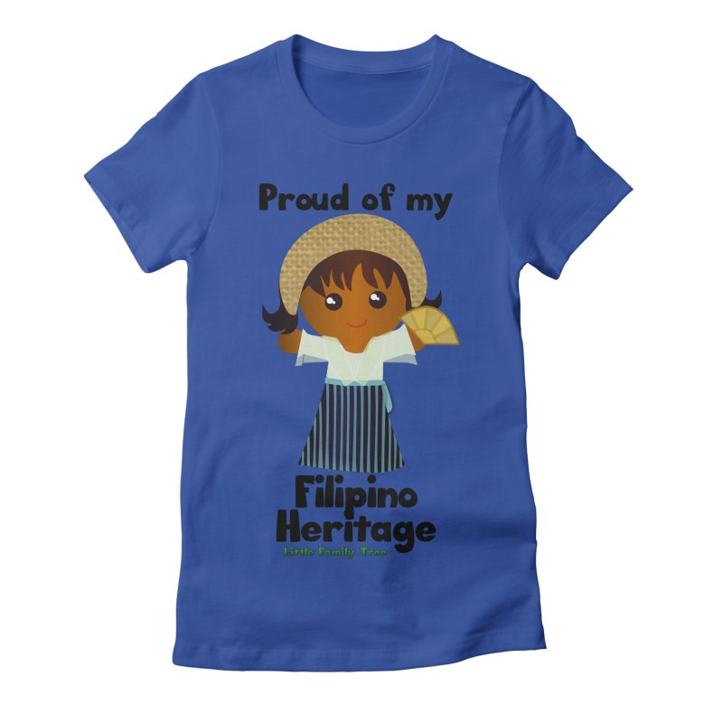 Filipino Heritage Girl Women's Fitted T-Shirt by Yellow Fork Tech's Shop