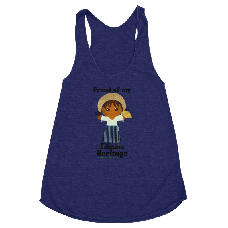 Filipino Heritage Girl Women's Racerback Triblend Tank by Yellow Fork Tech's Shop