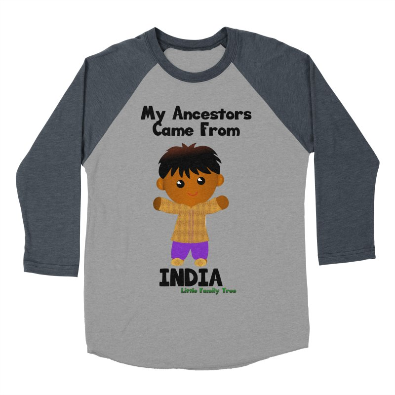 India Ancestors Boy Men's Baseball Triblend T-Shirt by Yellow Fork Tech's Shop