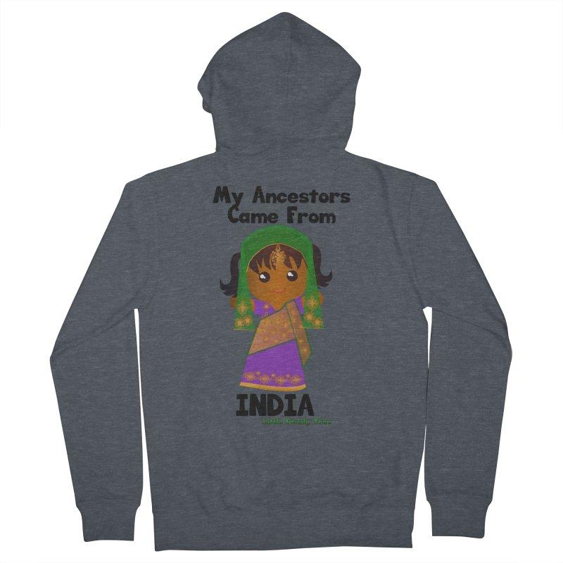 India Ancestors Girl Women's Zip-Up Hoody by Yellow Fork Tech's Shop