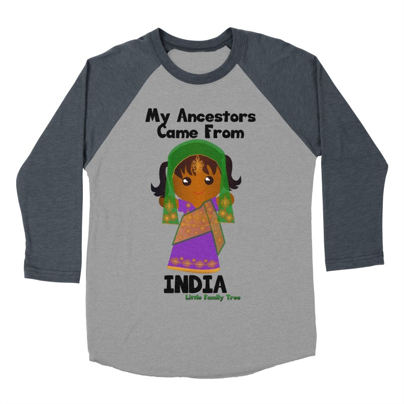 India Ancestors Girl Women's Baseball Triblend T-Shirt by Yellow Fork Tech's Shop