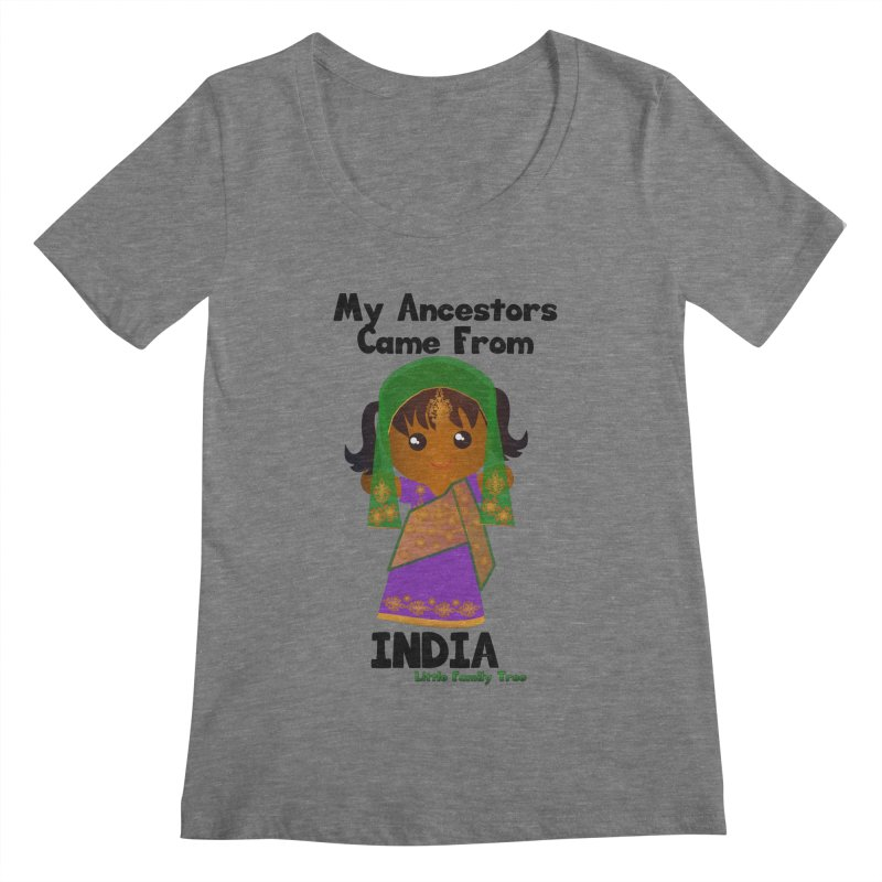 India Ancestors Girl Women's Scoopneck by Yellow Fork Tech's Shop
