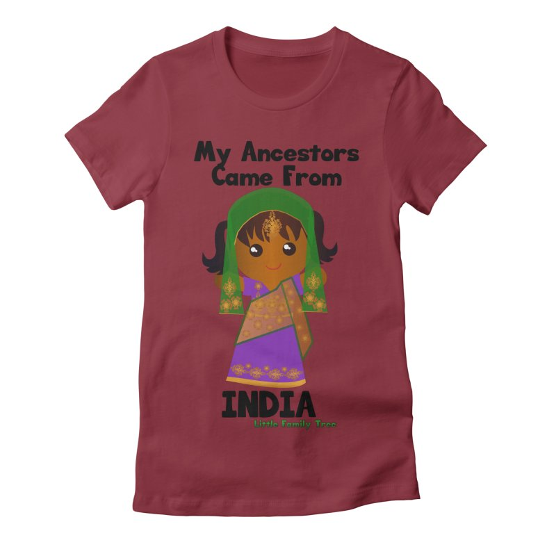 India Ancestors Girl Women's Fitted T-Shirt by Yellow Fork Tech's Shop