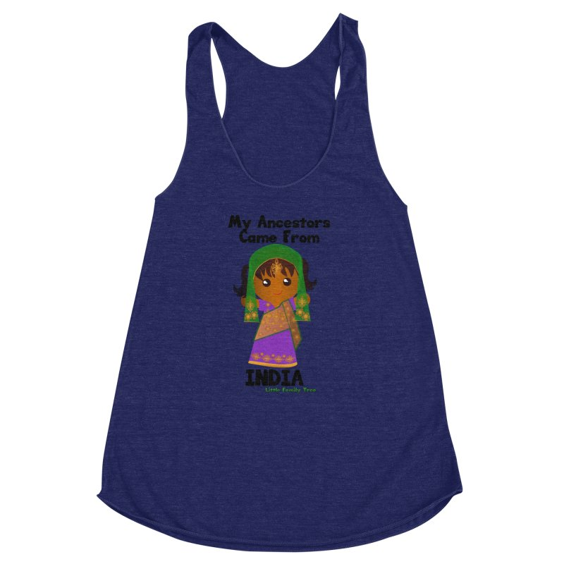 India Ancestors Girl Women's Racerback Triblend Tank by Yellow Fork Tech's Shop