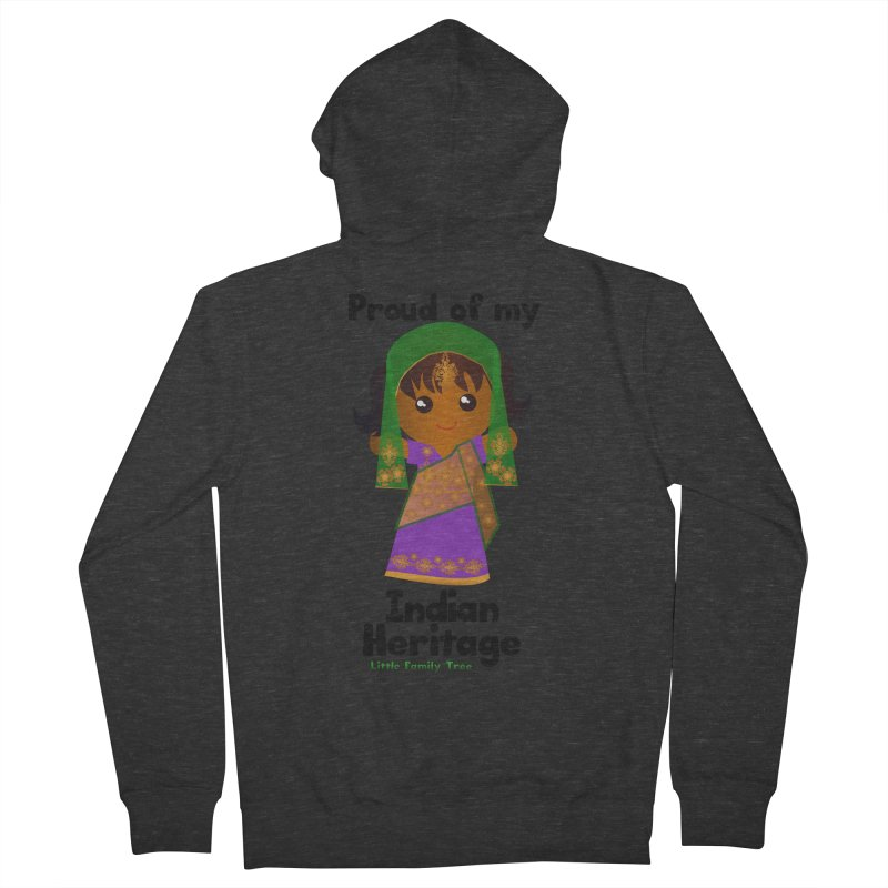 Indian Heritage Girl Women's Zip-Up Hoody by Yellow Fork Tech's Shop